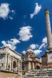Romain fördärvar, Italien Arkivbild