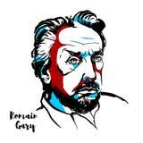 Romain Gary Portrait vector illustration