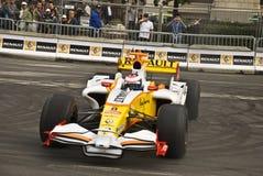Romain Grosjean dans une démonstration de Renault F1 Photographie stock libre de droits