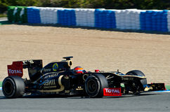 Romain Grosjean de lotus Renault Images stock