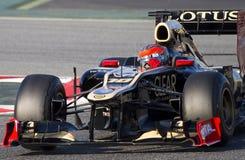 Romain Grosjean du lotus F1 Images libres de droits