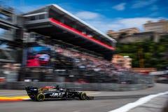 #8 Romain GROSJEAN FRA, Haas, VF 19 während FP2 lizenzfreie stockbilder