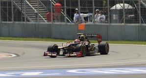 Romain Grosjean krijgt tweede plaats in Montreal Royalty-vrije Stock Foto