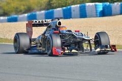 Romain Grosjean (Lotus F1 Team). F1's test in Jerez (Spain Royalty Free Stock Photo