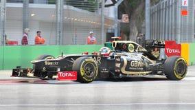 Romain Grosjean som är tävlings- i grand prix för F1 Singapore Arkivfoto