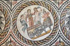 Romain Mosaic, Leptis Magna fotografia stock