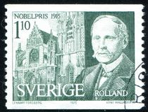 Romain Rolland. SWEDEN - CIRCA 1975: stamp printed by Sweden, shows Romain Rolland, circa 1975 Stock Photos