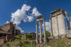 Romain-Ruinen, Italien Lizenzfreies Stockbild
