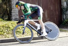Romain Sicard Cyclist French Royalty-vrije Stock Foto