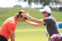 Romain Wattel at The French golf Open 2013 Royalty Free Stock Images