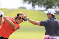 Romain Wattel no golfe francês abre 2013 Imagens de Stock