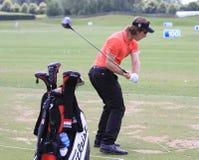 Romain Wattel przy Francuskim golfem Otwiera 2013 Zdjęcia Royalty Free