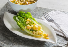 Romaine lettuce hearts with mango apple vinaigrette Royalty Free Stock Image