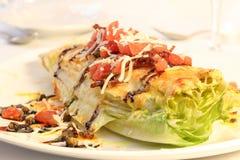 Romaine salad. Beautifully decorated romaine cesar salad Stock Photo