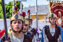 Romains dans le cortège prêté, Antigua, Guatemala Photos stock