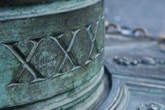 Roman aantallen op een oude fontein royalty-vrije stock foto's