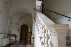 Roman abbey cloister Royalty Free Stock Images