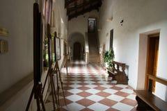 Roman abbey cloister Stock Photos
