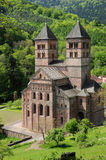 The roman abbey of Murbach in Alsace Stock Images