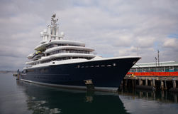 Abramovich jacht w San Diego Fotografia Stock