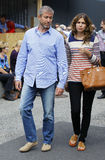 Roman Abramowitsch with girlfriend Daria Zhukova Royalty Free Stock Photography