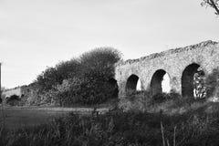 roman acqueduct Royaltyfri Fotografi