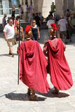 Roman Actors at Diocletians Palace Royalty Free Stock Photography