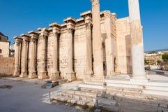 Roman Agora återstår i Aten Grekland Royaltyfri Fotografi