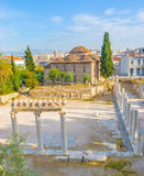 The Roman Agora archaeological site Stock Image