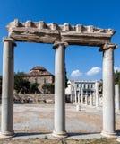 Roman Agora Athene Stock Foto's