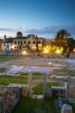 Roman Agora, Athene Royalty-vrije Stock Afbeeldingen