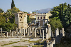 Roman Agora in Athens. Greece Royalty Free Stock Photo