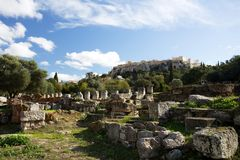 Roman Agora in Athens, Greece Royalty Free Stock Image