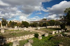 Roman Agora in Athens, Greece. Roman Agora in Athens in Greece Royalty Free Stock Images