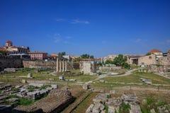 Roman Agora av Aten, Grekland arkivbilder