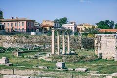 Roman Agora av Aten, Grekland royaltyfria foton