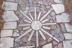 Roman Agora-Blockstein in Athen Griechenland Stockbilder