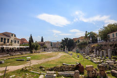Roman Agora de Atenas, Grecia Imagen de archivo libre de regalías