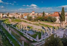 Roman Agora en Atenas fotografía de archivo