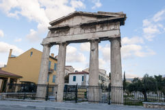 Roman agora. Entrance of roman agora, athens, greece Stock Photography