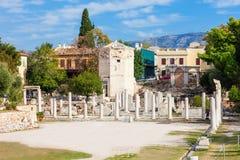 Roman Agora på Aten royaltyfri fotografi