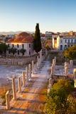 Roman Agora. Remains of the Roman Agora in Athens, Greece Stock Photos
