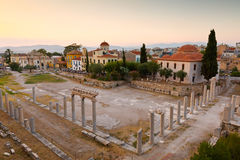 Roman Agora. Remains of the Roman Agora in Athens, Greece Royalty Free Stock Image