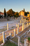 Roman Agora. Remains of the Roman Agora and Tower of Winds in Athens, Greece Stock Images