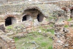 Roman Agora. Ruins. Thessaloniki Royalty Free Stock Photos