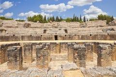 roman amfiteateritalica arkivfoto