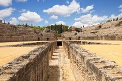 roman amfiteateritalica royaltyfri foto