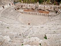Roman amfitheater in Amman Stock Afbeelding