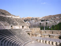Roman amfitheater in Amman Stock Foto's
