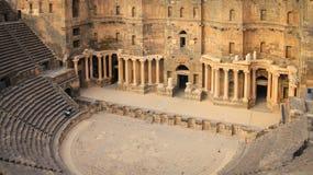 Roman amfitheater Bosra - Syrië stock afbeelding